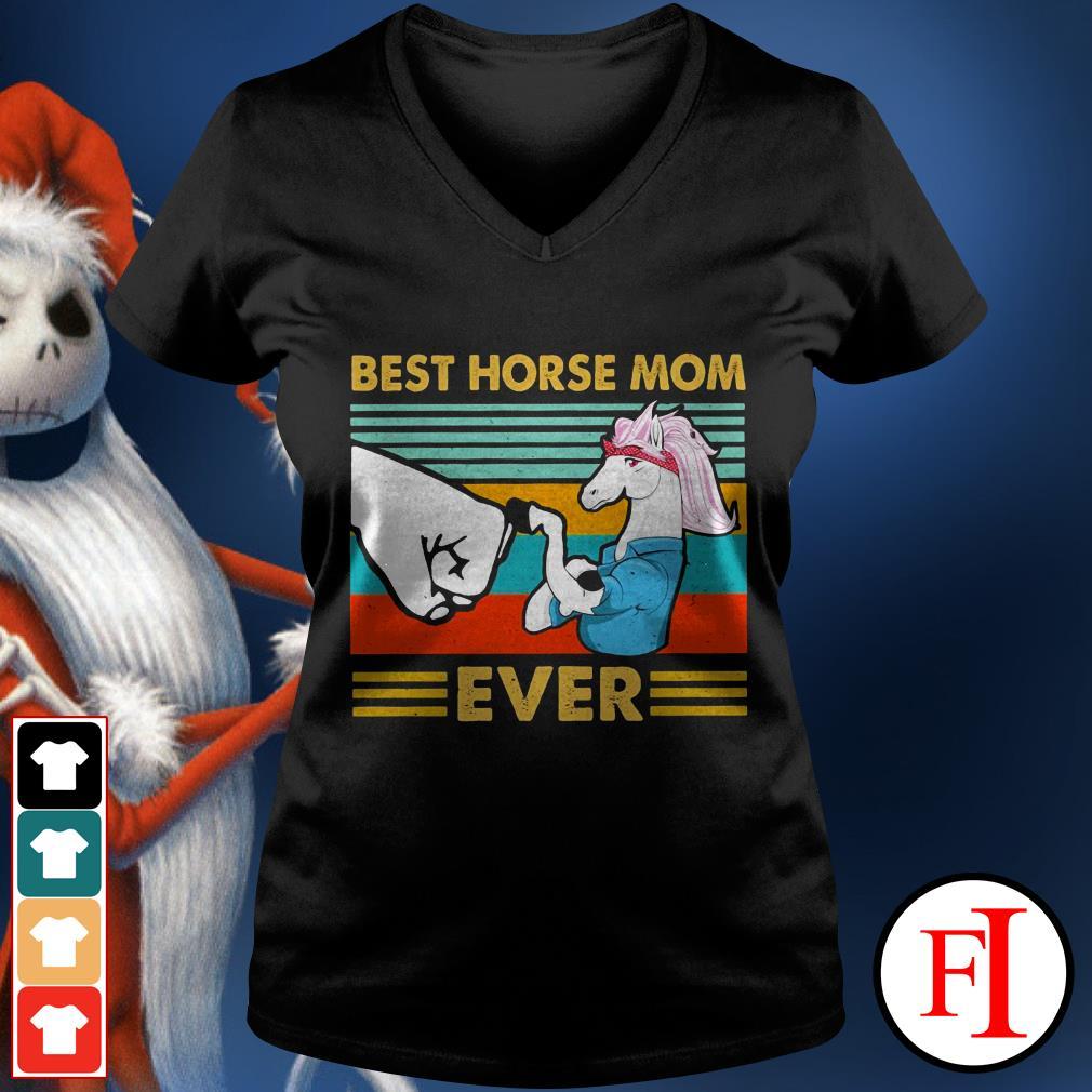 Best horse mom ever sunset IF V-neck t-shirt