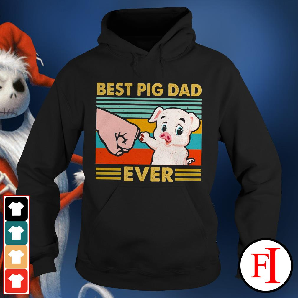 Best pig dad ever sunset IF Hoodie