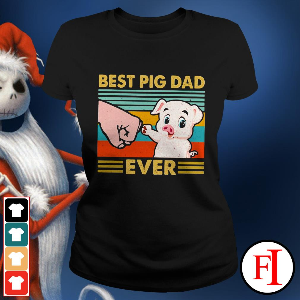 Best pig dad ever sunset IF Ladies tee