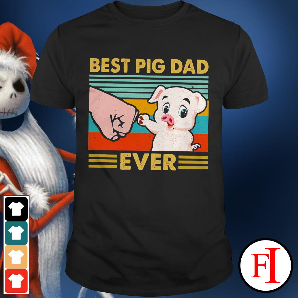 Best pig dad ever sunset IF shirt