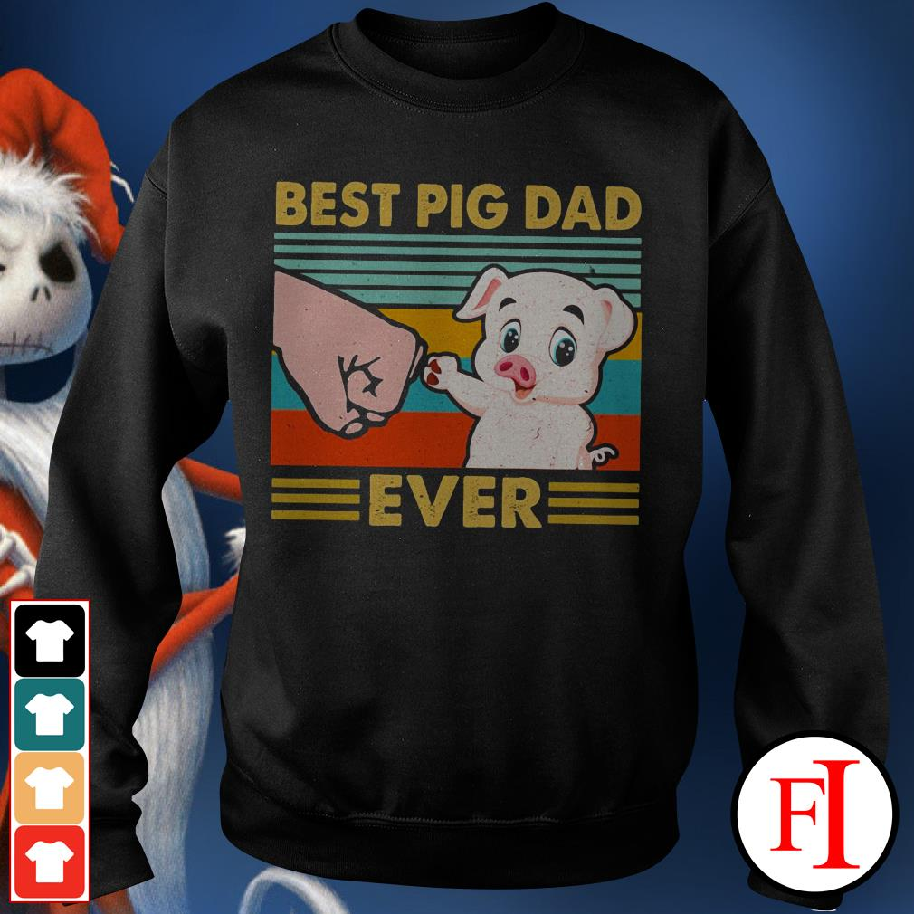 Best pig dad ever sunset IF Sweater