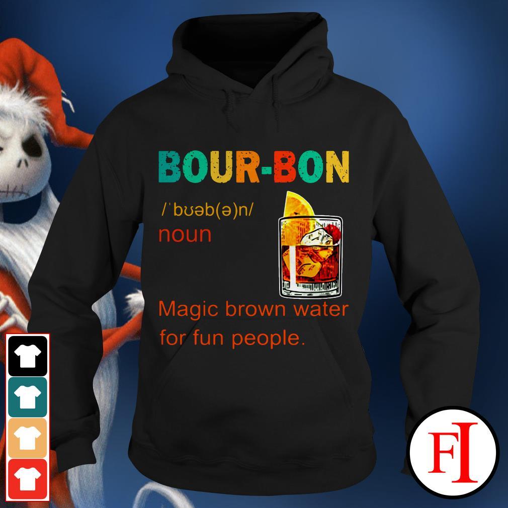 Bourbon magic brown water for fun people sunset IF Hoodie