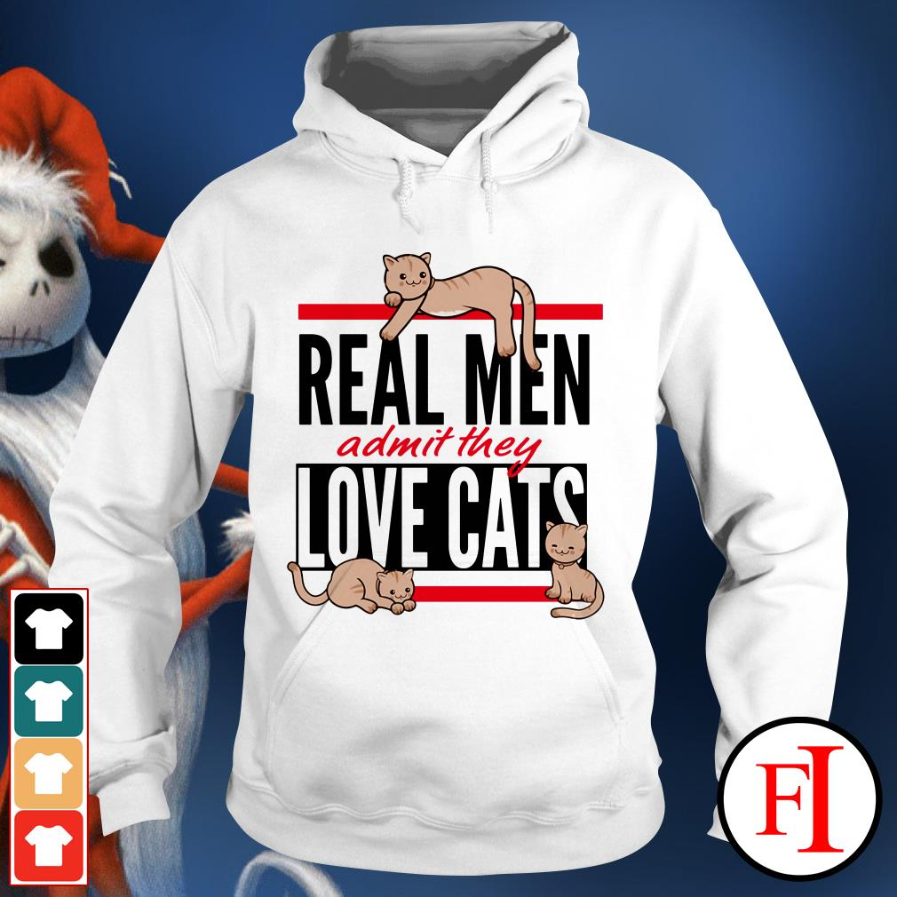 Cats Real men admit they love cats IF Hoodie