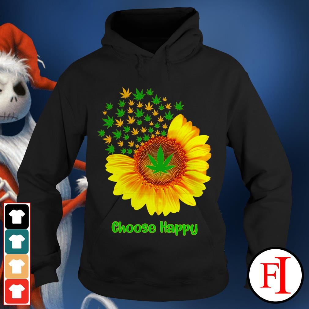 Choose happy with Sunflower Hoodie