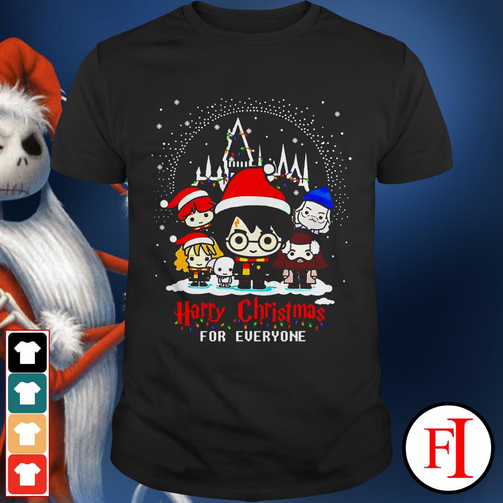 Christmas Harry Potter character chibi Harry Christmas for everyone IF shirt