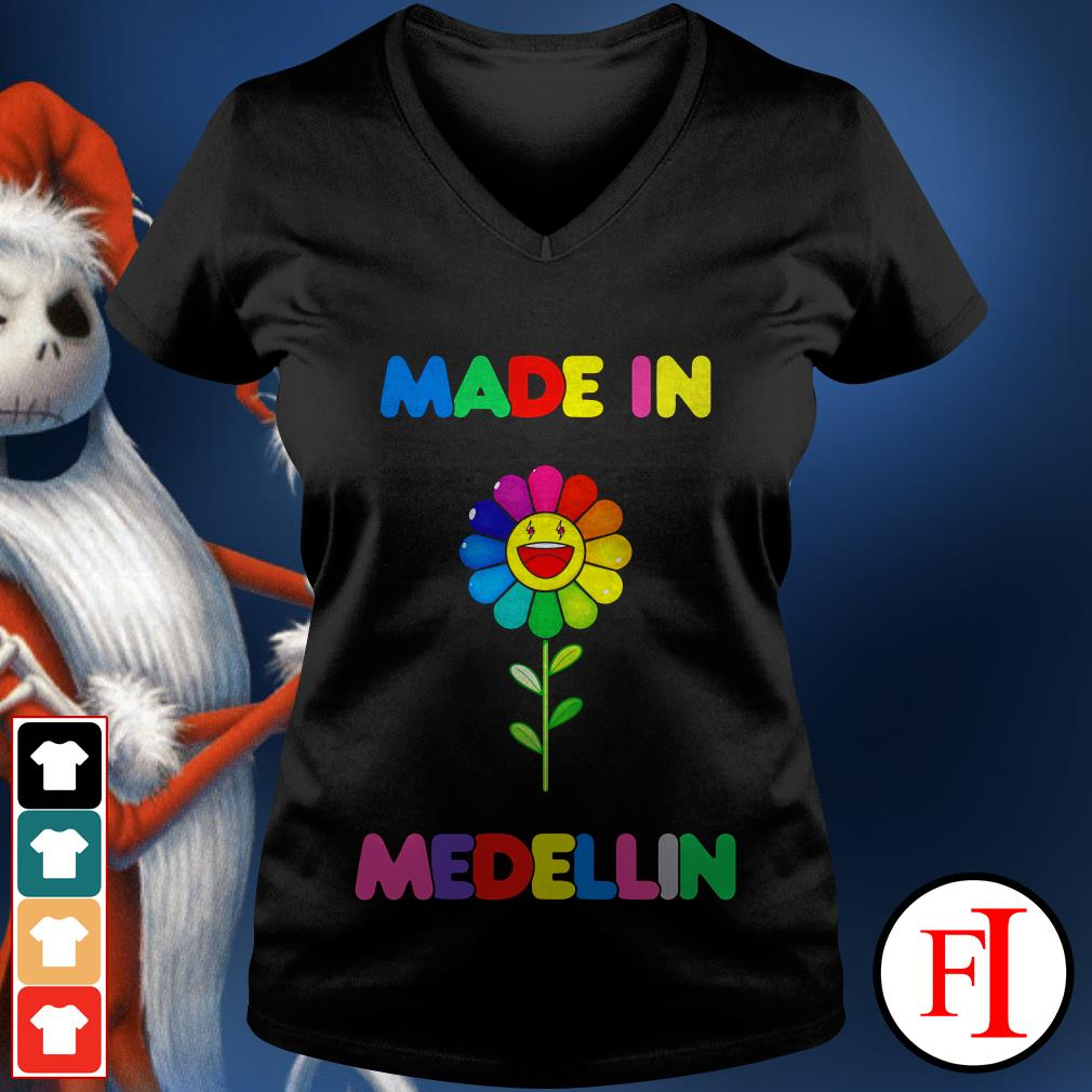 Colour lovely LGBT made in Medellin V-neck t-shirt