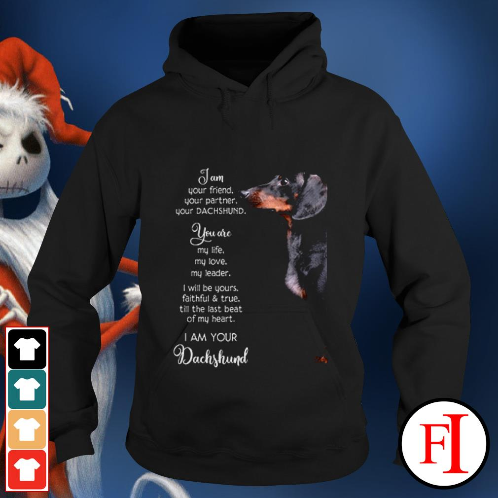 Dog Dachshund I am your friend your partner your and you are my life my love my leader Hoodie
