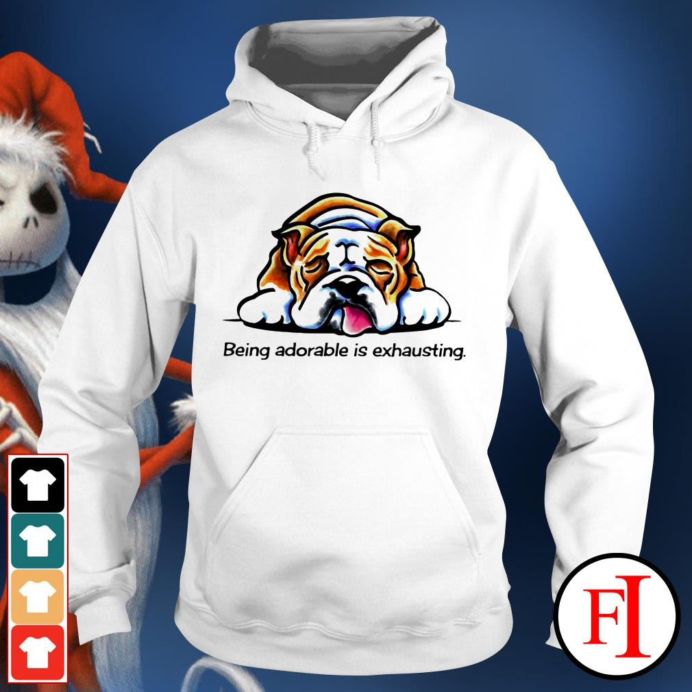 The Dog Pitbull being adorable is exhausting Hoodie