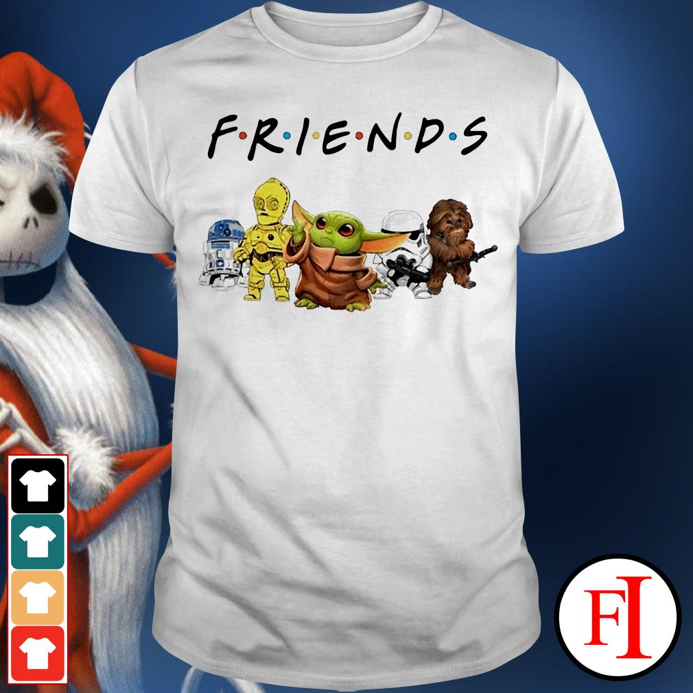 Friends TV show Baby Yoda R2D2 P3PO shirt