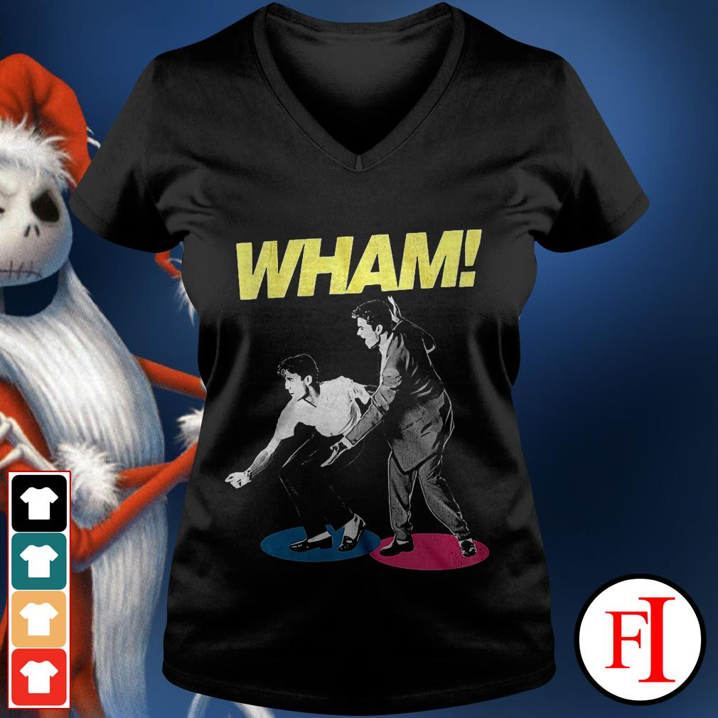 George Michael Wham and Andrew Ridgeley V-neck t-shirt