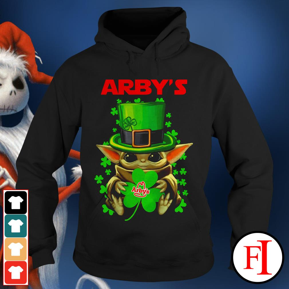 Green Arby's Baby Yoda St Patrick's day Hoodie