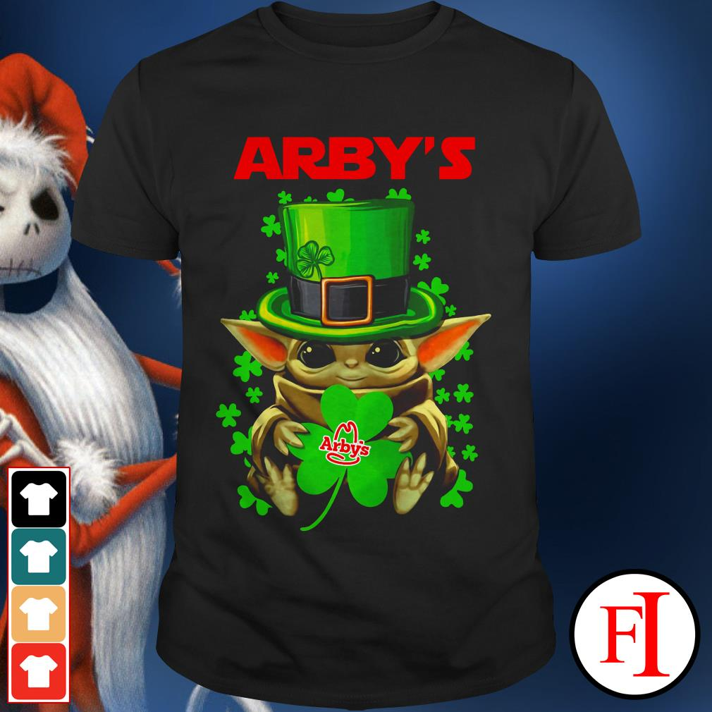 Green Arby's Baby Yoda St Patrick's day shirt