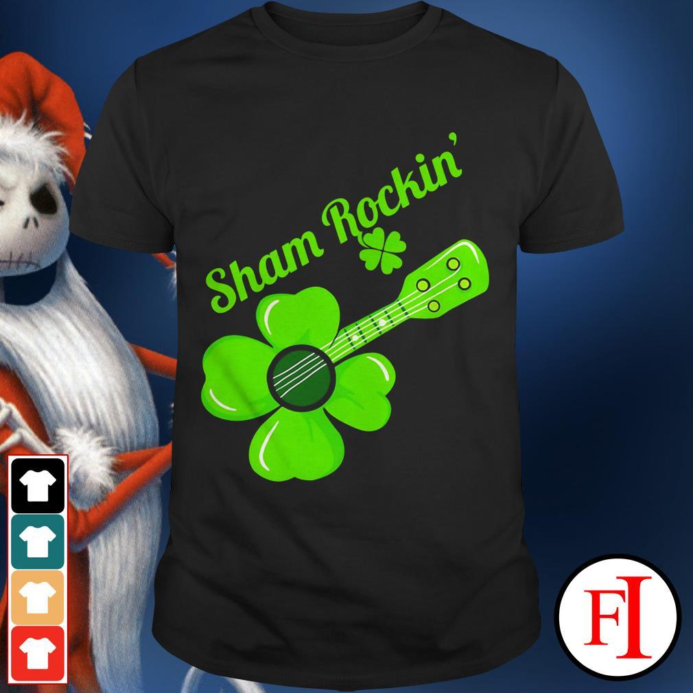 Happy day St. Patrick's Day Sham Rockin Shamrock guitar IF shirt