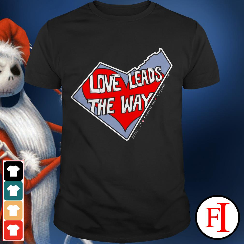 The heart Love leads the way shirt