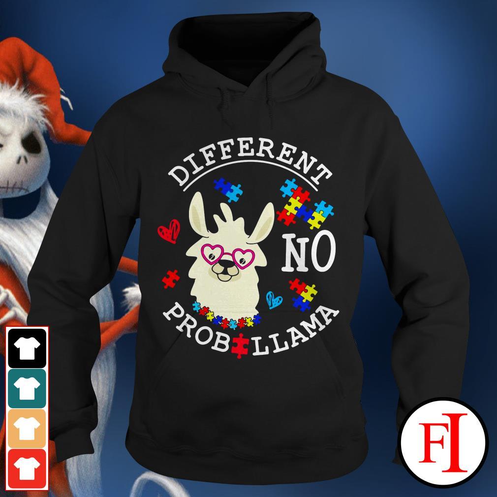 Llama Autism different no Prob Hoodie