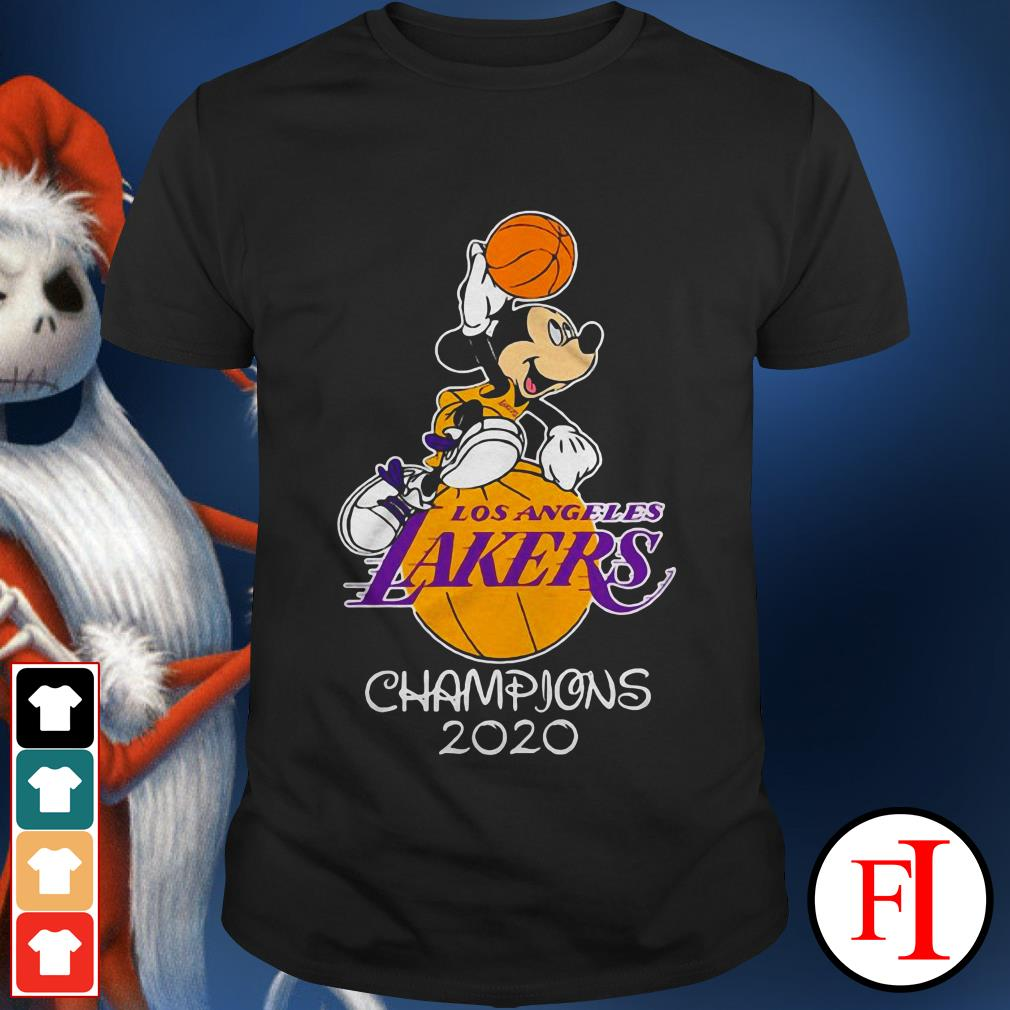 Los Angeles Lakers champions 2020 Mickey mouse love IF shirt