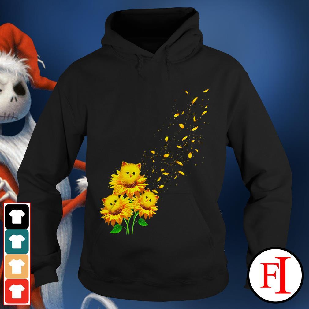 Love Cat and sunflower Hoodie