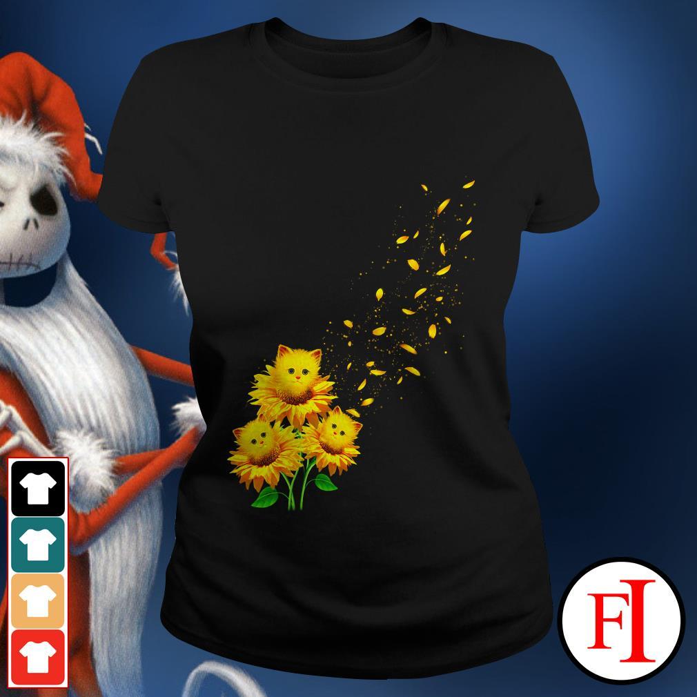 Love Cat and sunflower Ladies tee