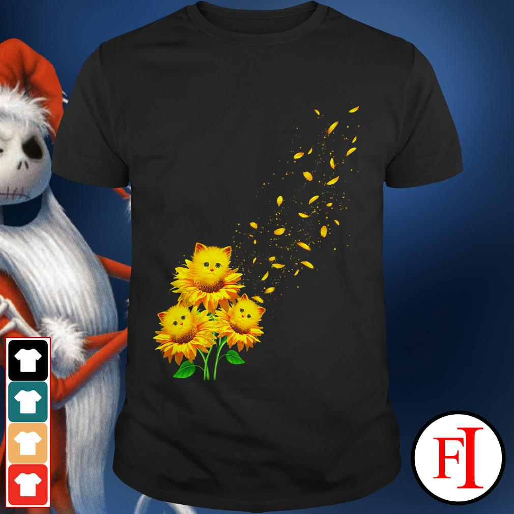 Love Cat and sunflower shirt
