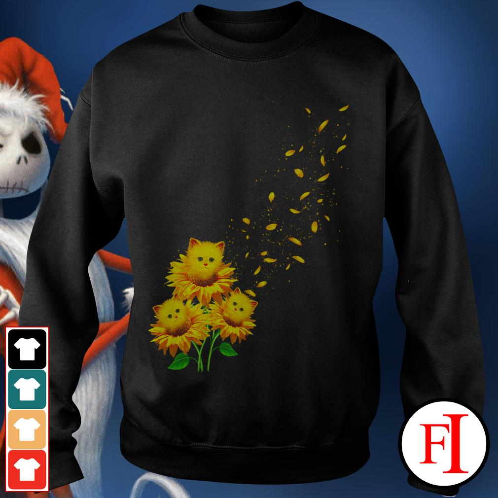 Love Cat and sunflower Sweater