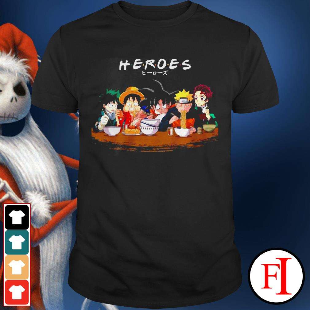 Lovely Anime Heroes mashup eat together IF shirt