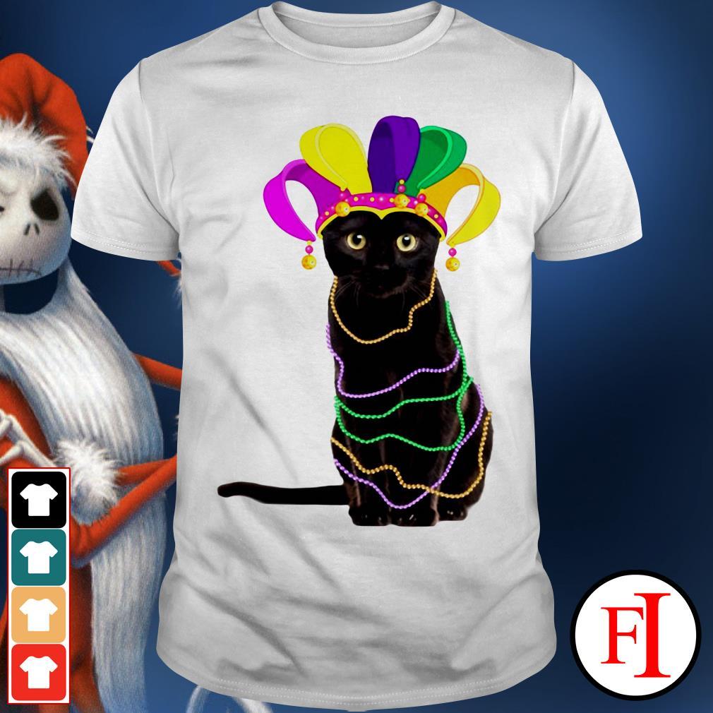 Lovely Black cat Mardi Gras IF shirt