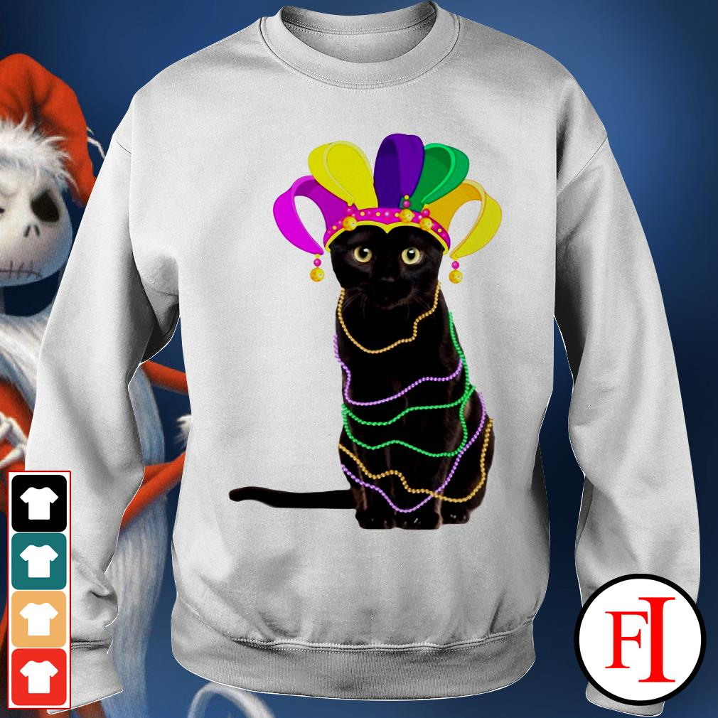 Lovely Black cat Mardi Gras IF Sweater