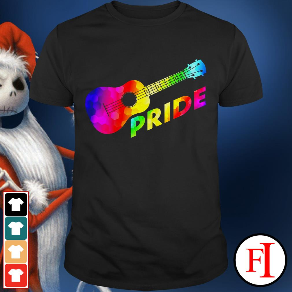 Lovely LGBT guitar pride shirt