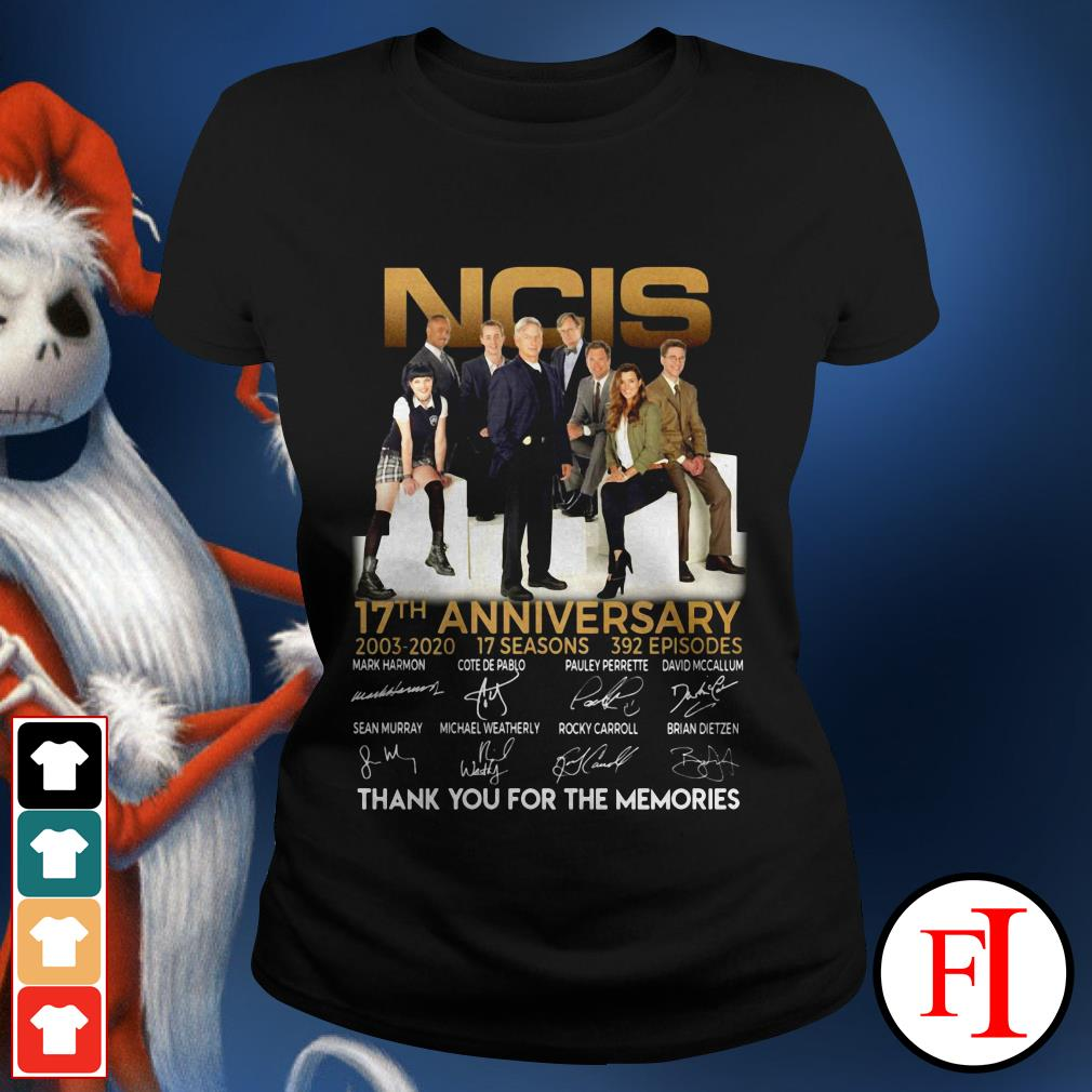 NCIS 17th anniversary thank you for the memories signature IF Ladies tee