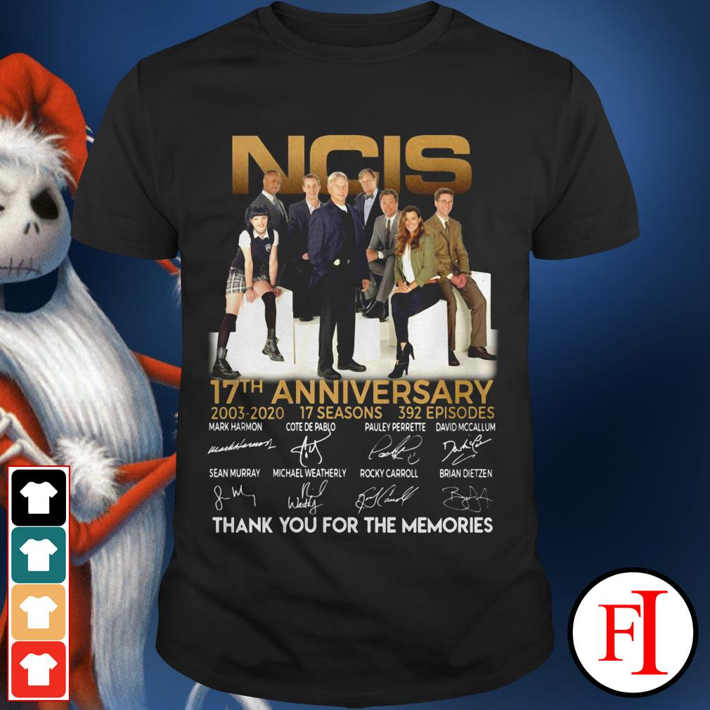 NCIS 17th anniversary thank you for the memories signature IF shirt
