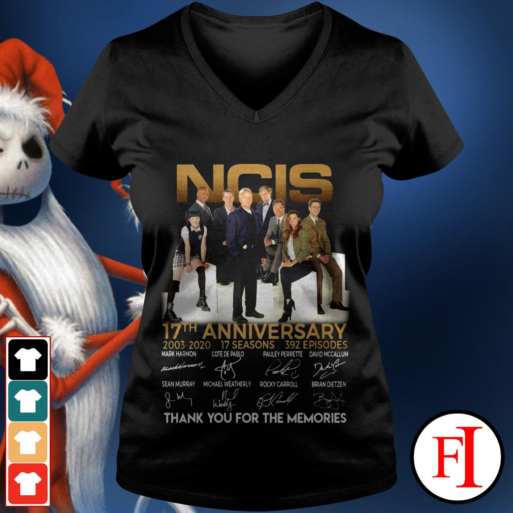NCIS 17th anniversary thank you for the memories signature IF V-neck t-shirt