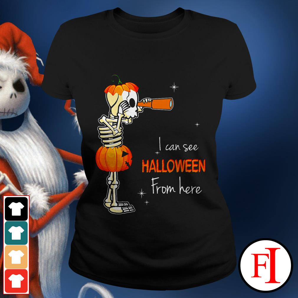Official I can see Halloween from here IF Ladies tee