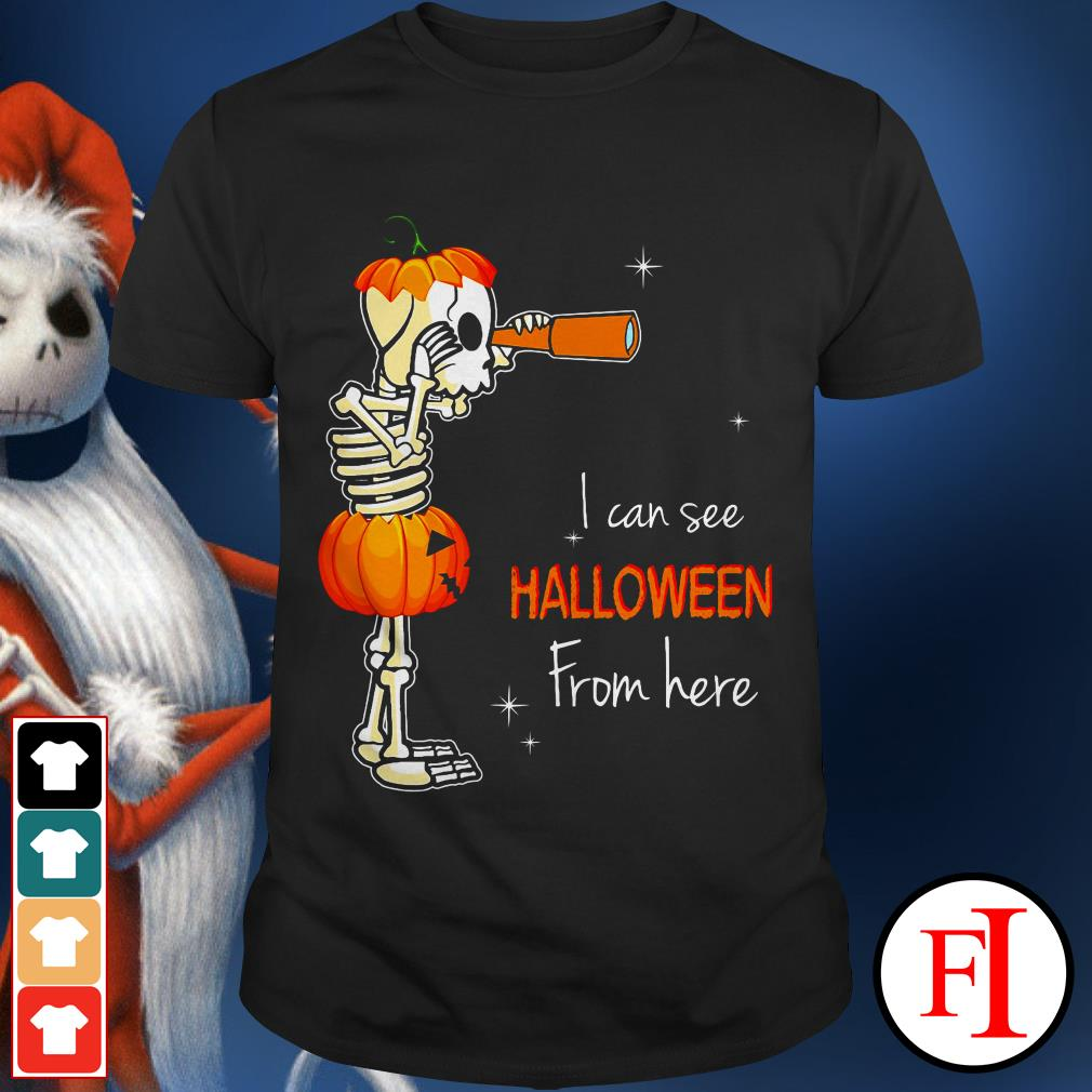 Official I can see Halloween from here IF shirt