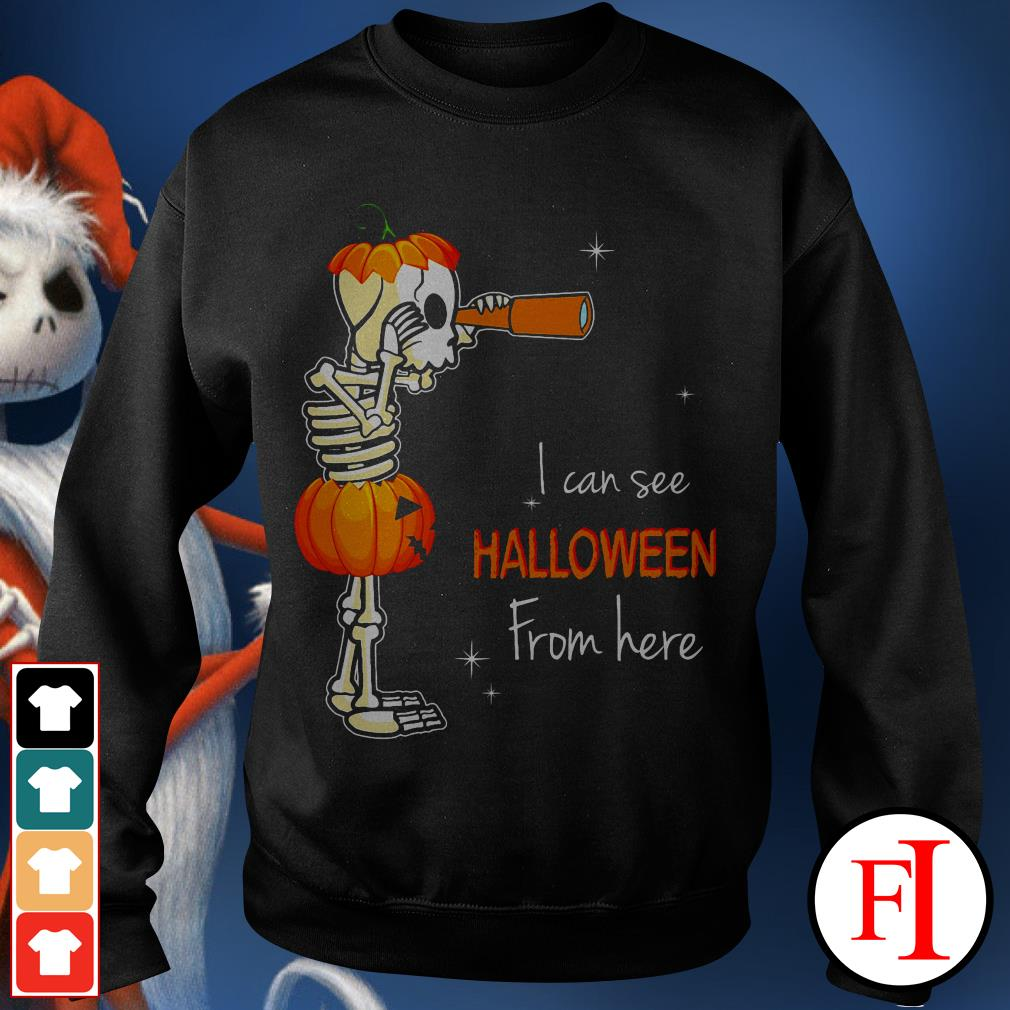 Official I can see Halloween from here IF Sweater