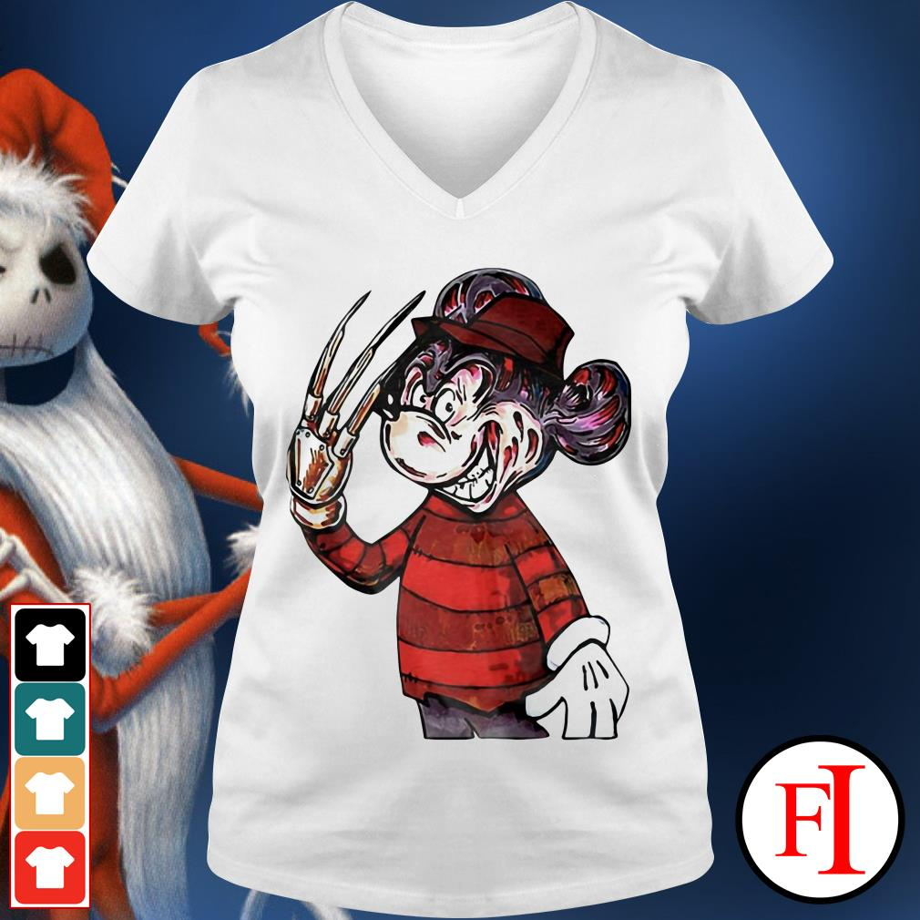 Official Horror Mickey mouse IF V-neck t-shirt