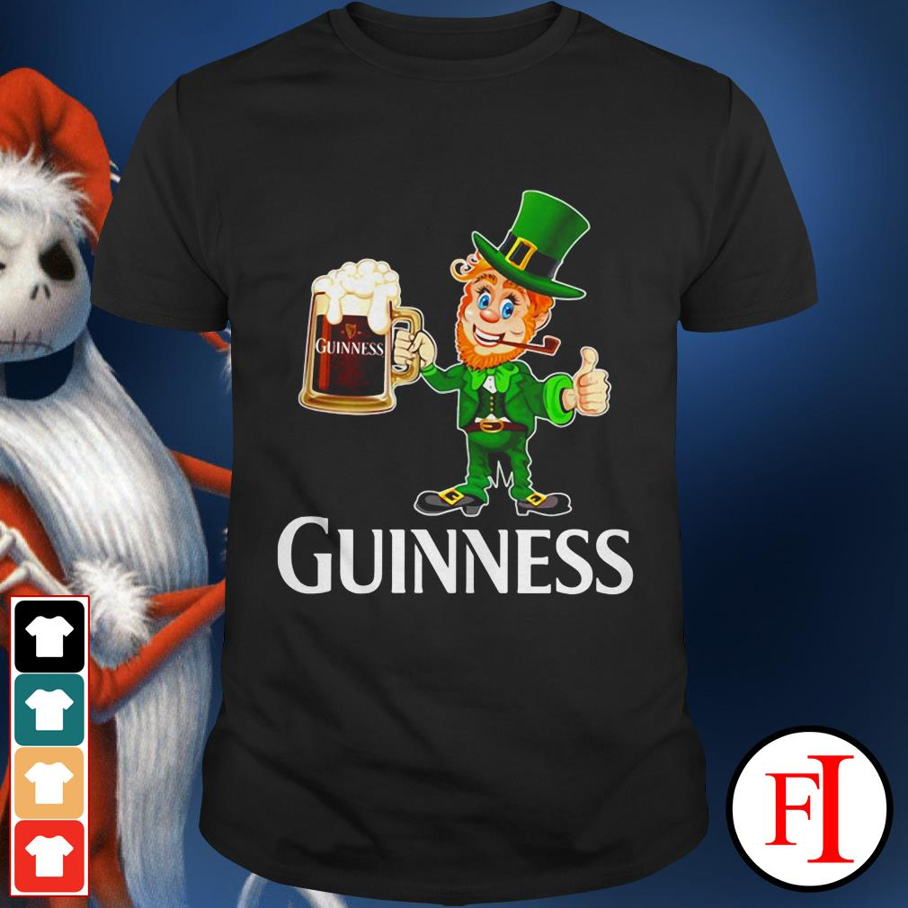Official St Patrick's day Leprechaun drinking Guinness shirt