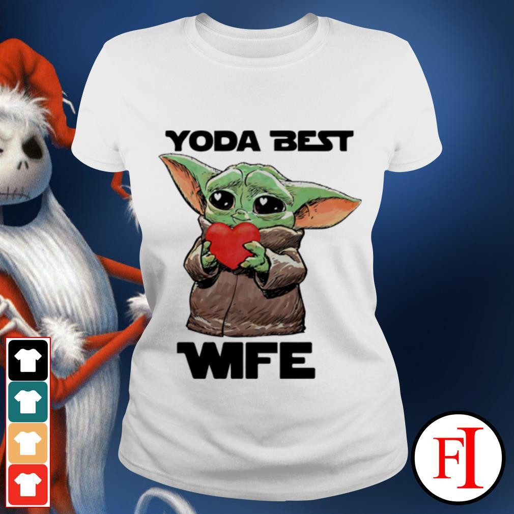 Official Star Wars Baby Yoda best wife Ladies tee