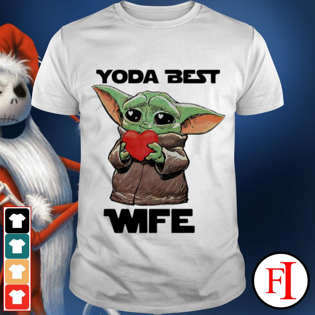 Official Star Wars Baby Yoda best wife shirt