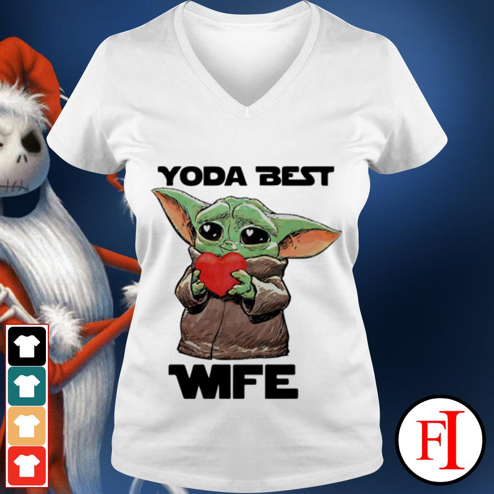 Official Star Wars Baby Yoda best wife V-neck t-shirt