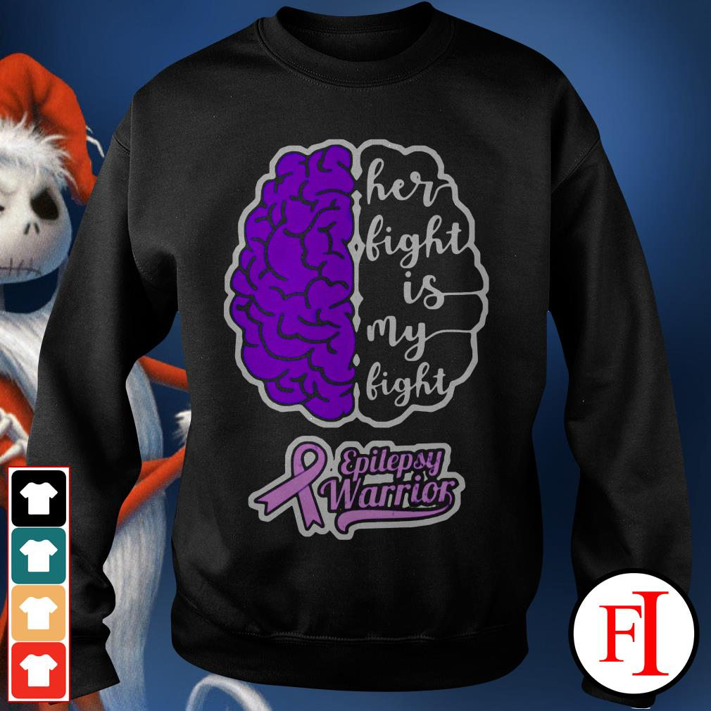 Purple Brain Cancer Her light is My light epilepsy warrior IF Sweater