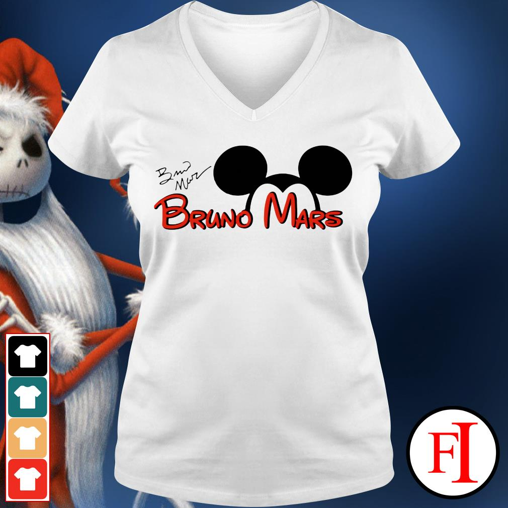 The signature Mickey Mouse Bruno Mars IF V-neck t-shirt