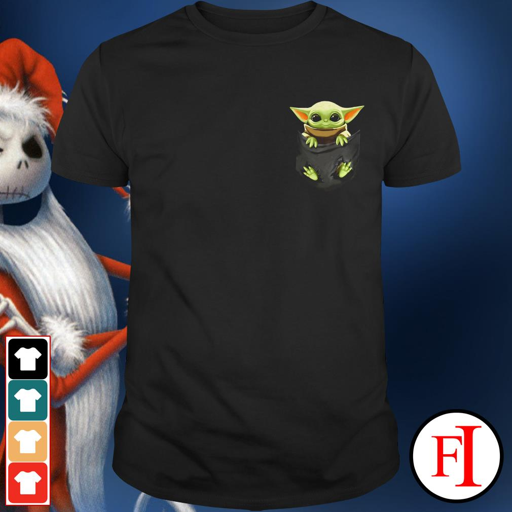 Star Wars Baby Yoda in a pocket shirt