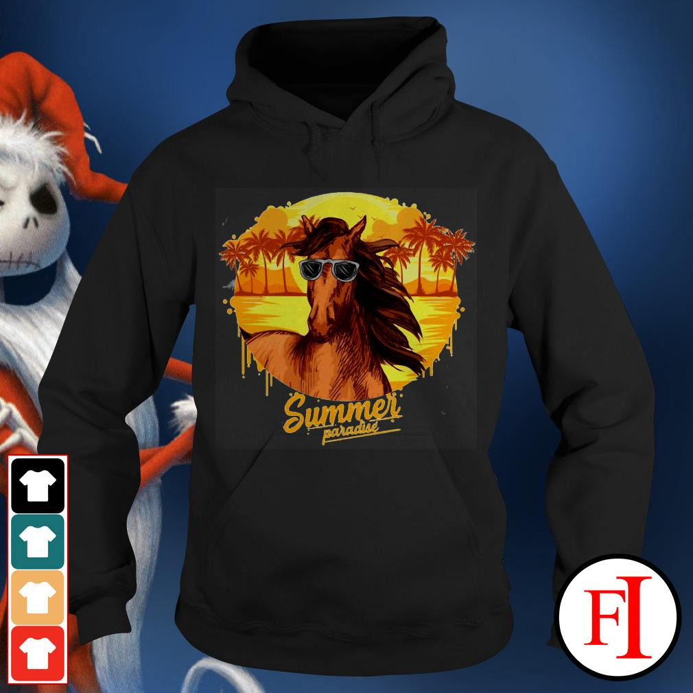 Summer paradise Horse sunglasses IF Hoodie