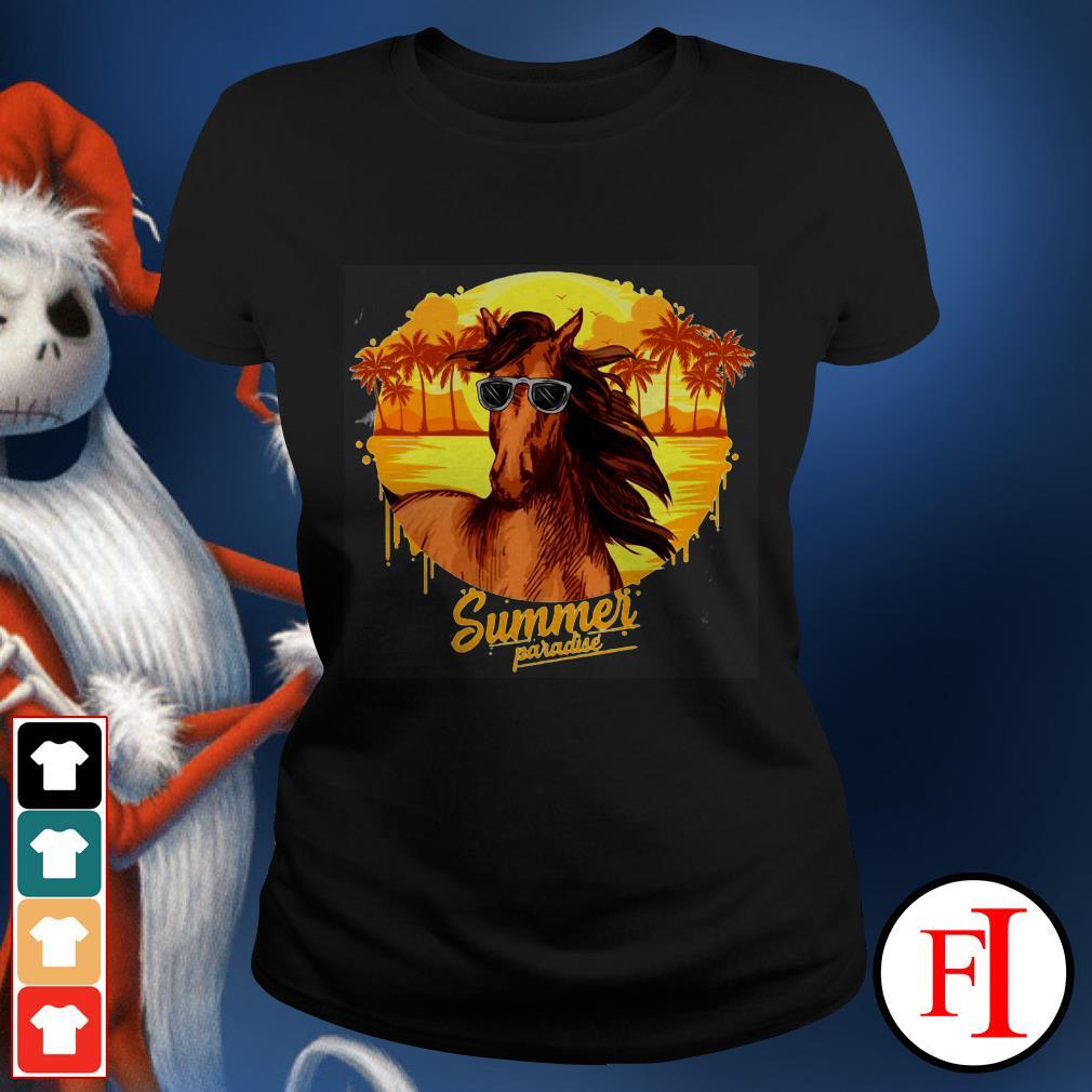 Summer paradise Horse sunglasses IF Ladies tee