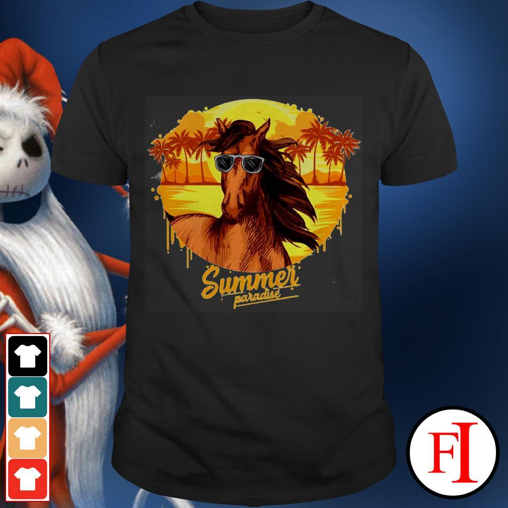Summer paradise Horse sunglasses IF shirt