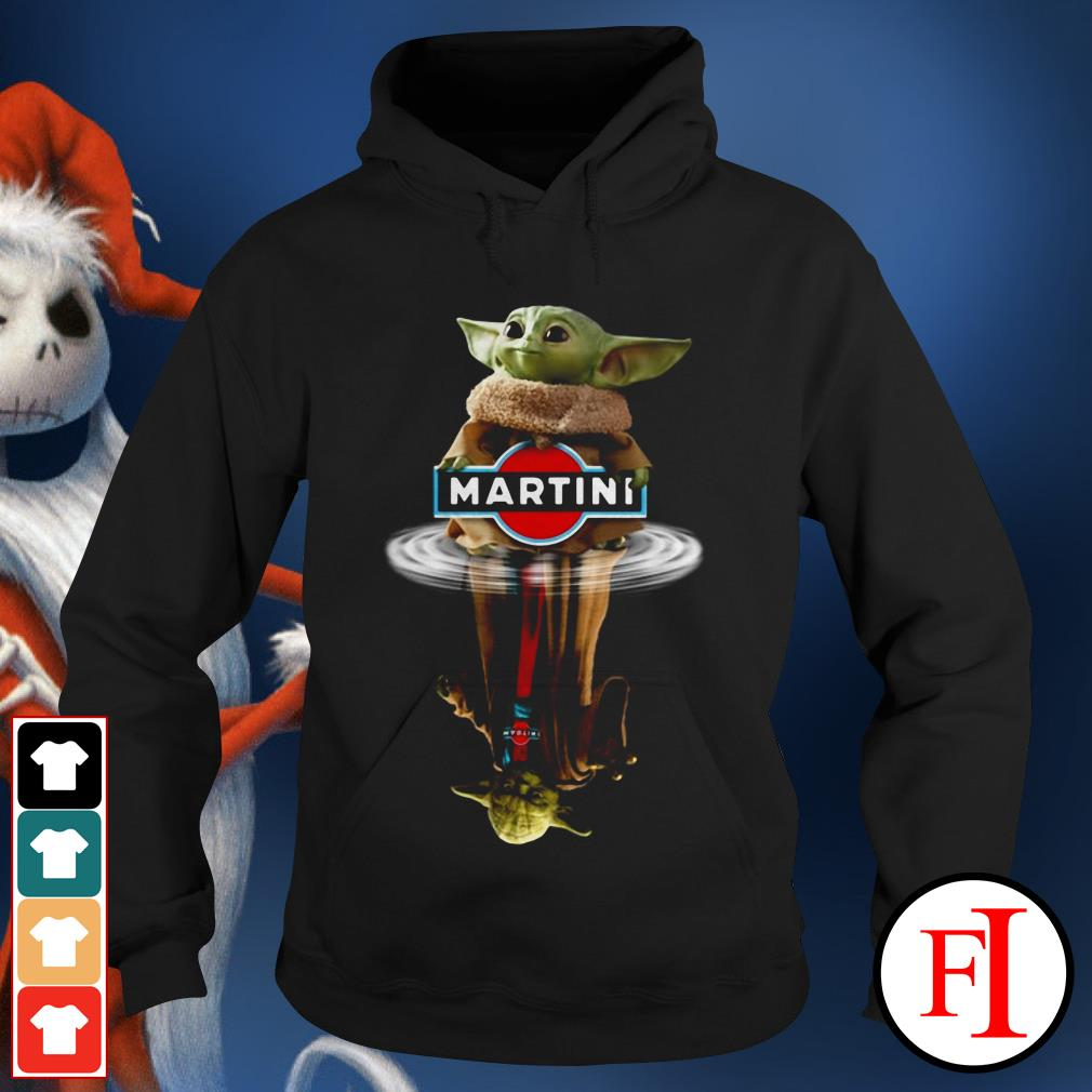 Yoda Martini Star Wars Baby Yoda reflection water Hoodie