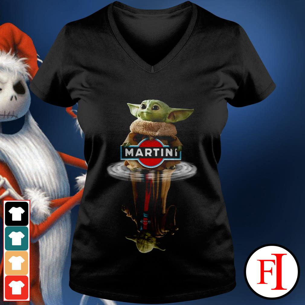 Yoda Martini Star Wars Baby Yoda reflection water V-neck t-shirt