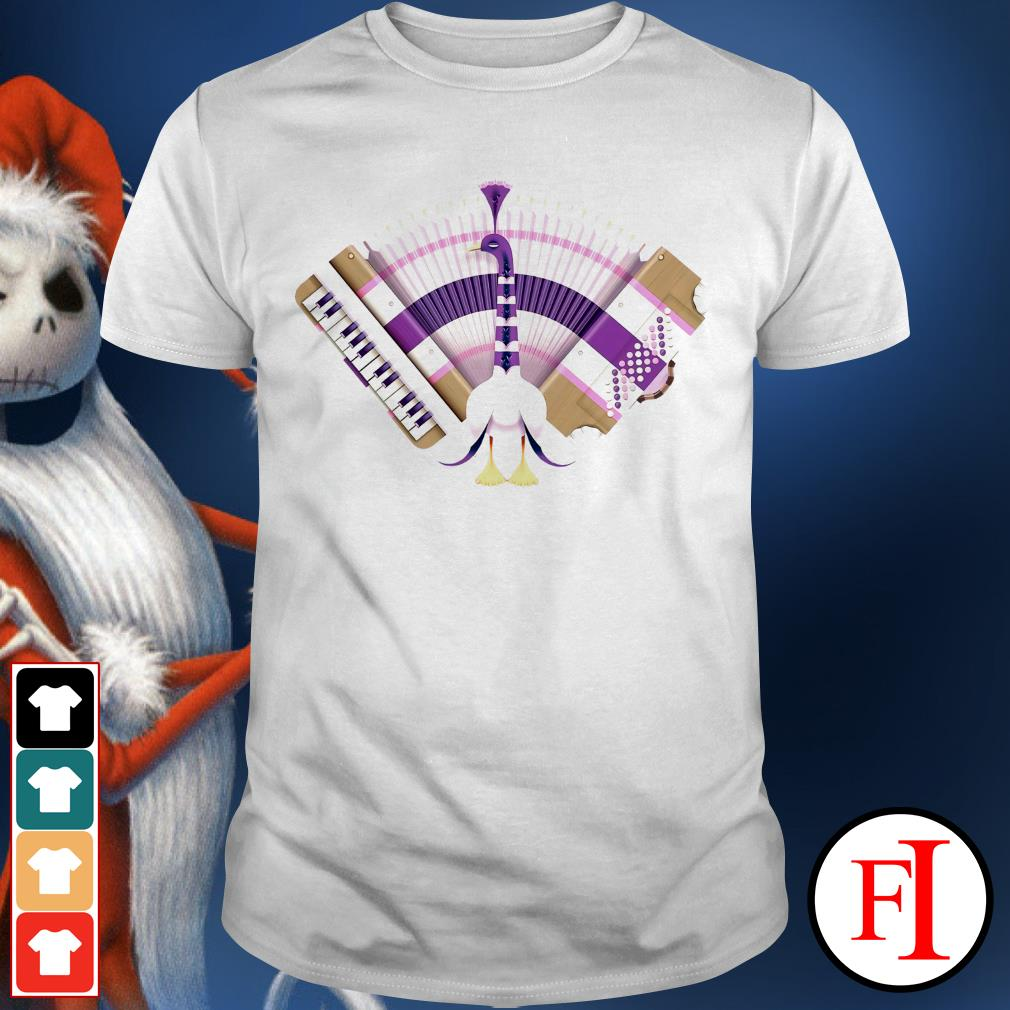 Accordion tail peacock piano purple love IF shirt