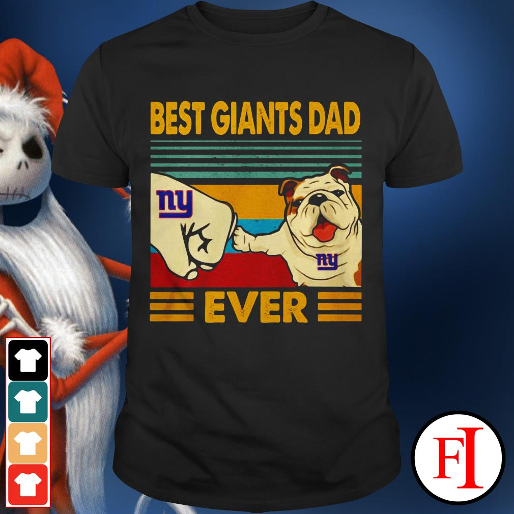 Best Seahawks Dad Bulldog New York Giants Ever sunset IF shirt