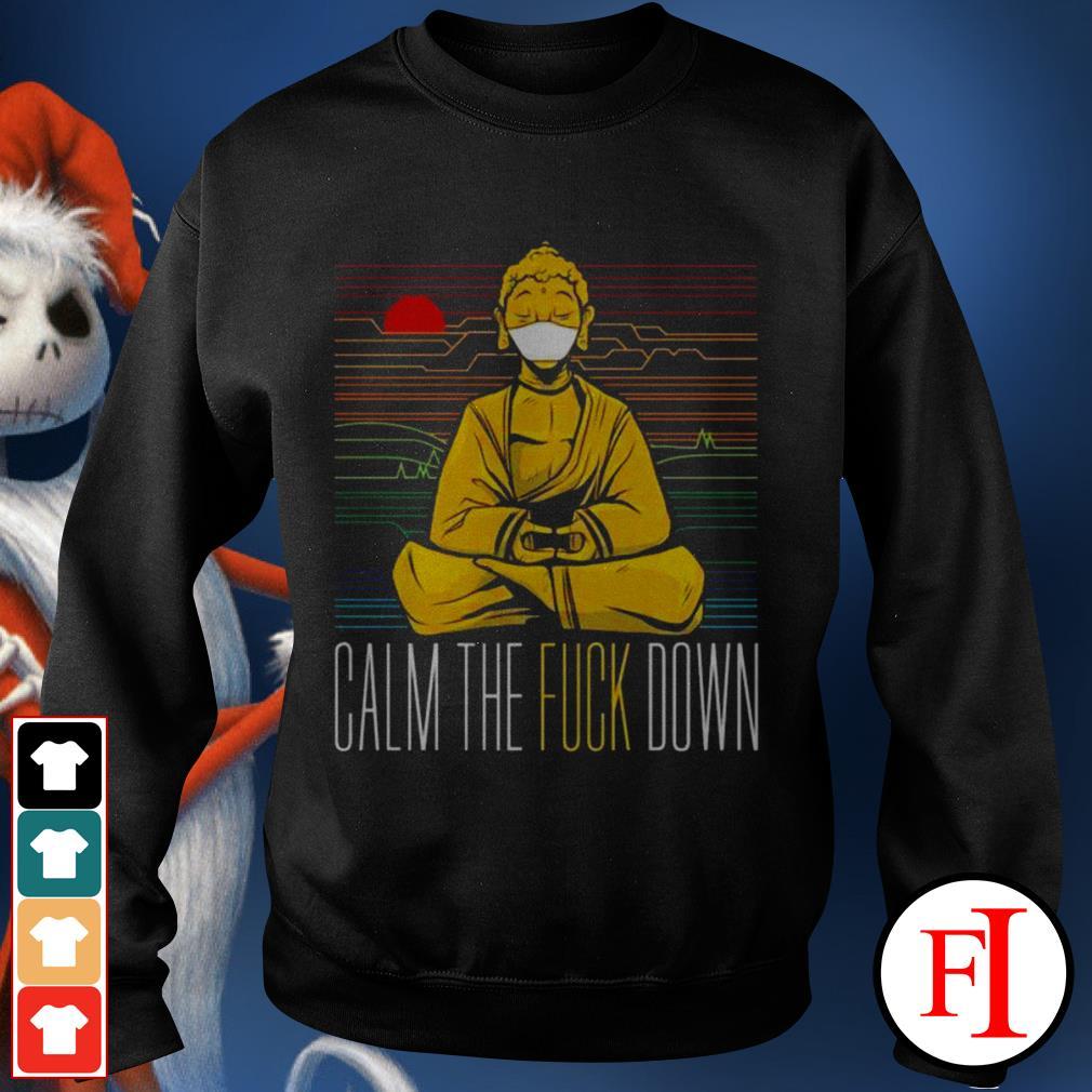 Buddha calm the fuck down yoga sunset love IF Sweater